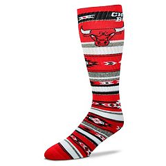 Adult For Bare Feet Chicago Bulls Tailgater Crew Socks