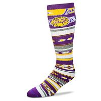 Adult For Bare Feet Los Angeles Lakers Tailgater Crew Socks