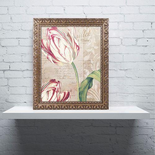 Trademark Fine Art Tulips Ornate Framed Wall Art