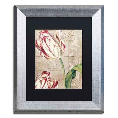 Trademark Fine Art Tulips Silver Finish Framed Wall Art