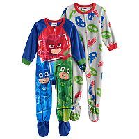 Toddler Boy PJ Masks 2-pk. Catboy, Gekko & Owlette Footed Pajamas