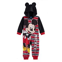 Disney's Mickey Mouse Toddler Boy Hooded One-Piece Pajamas