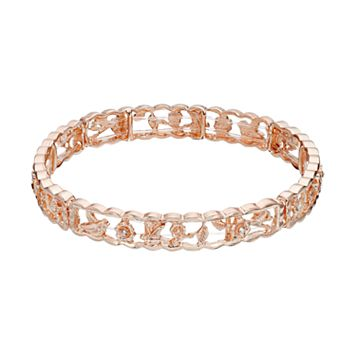 LC Lauren Conrad Bird & Flower Openwork Stretch Bracelet