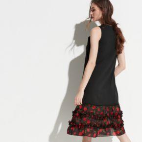 k/lab Ruffle Hem Sweatshirt Dress