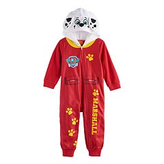 Toddler Boy Paw Patrol Marshall Hooded Footless Pajamas