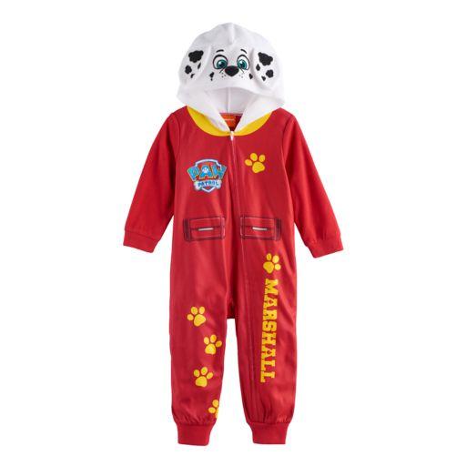 Toddler Boy Paw Patrol Marshall Hooded Footless Pajamas