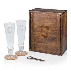 Picnic Time Cleveland Indians Pilsner Beer Gift Set