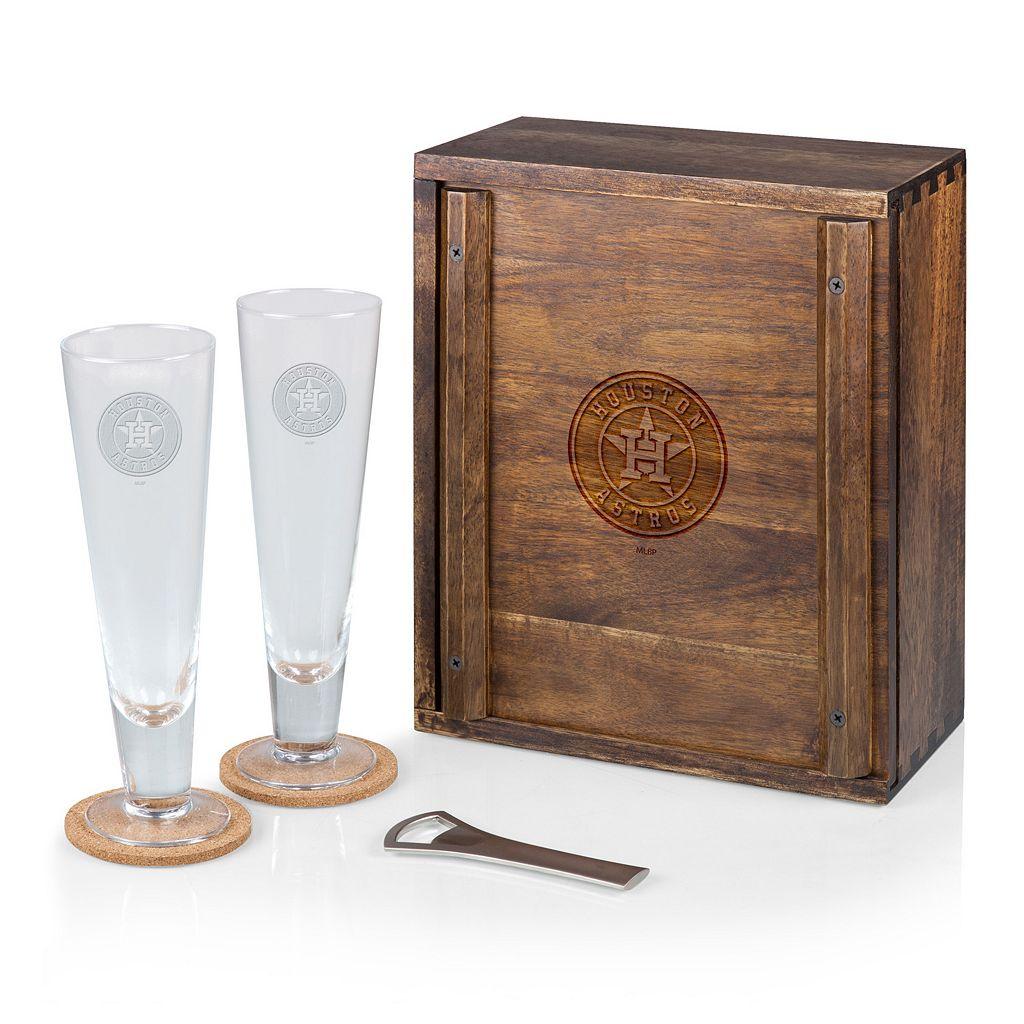 Picnic Time Houston Astros Pilsner Beer Gift Set