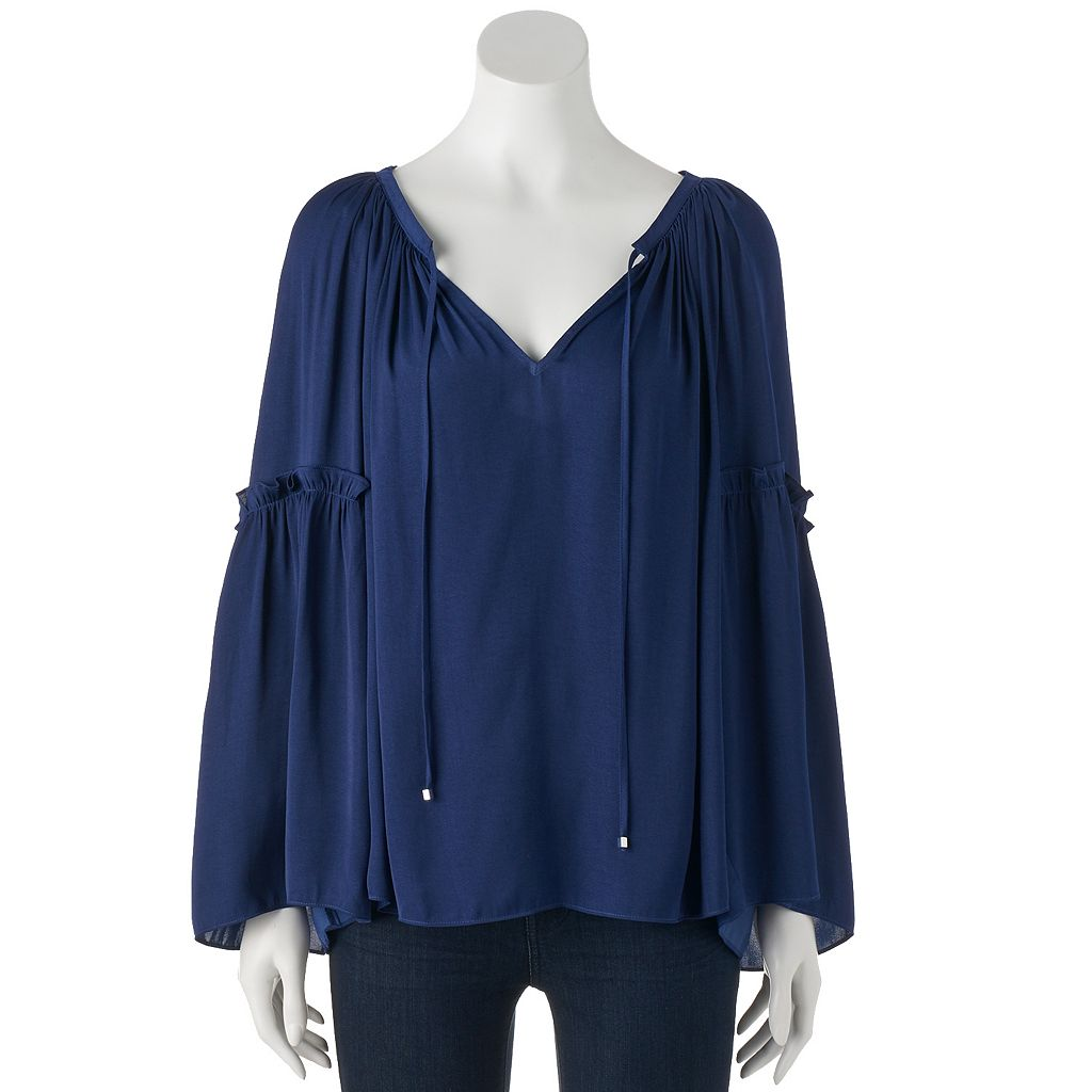Women's Jennifer Lopez Ruffle Peasant Top