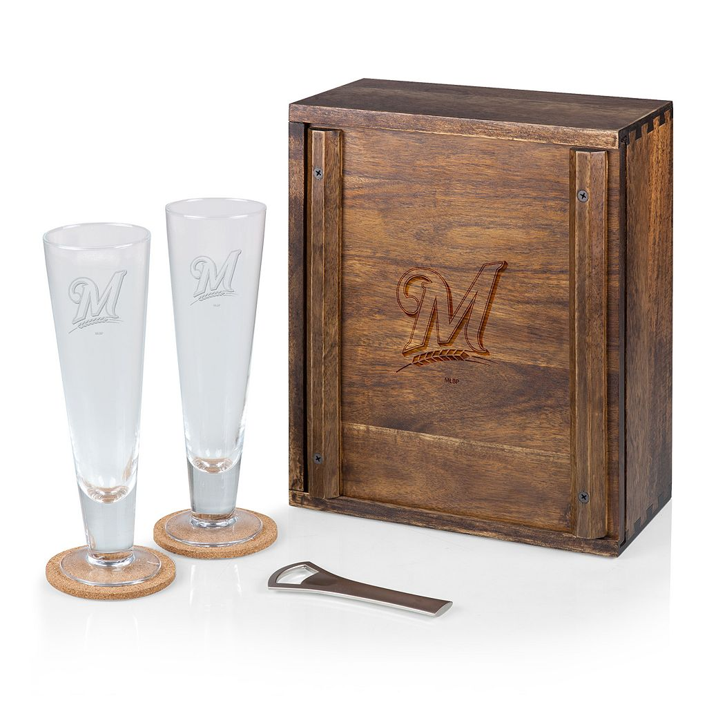 Picnic Time Milwaukee Brewers Pilsner Beer Gift Set