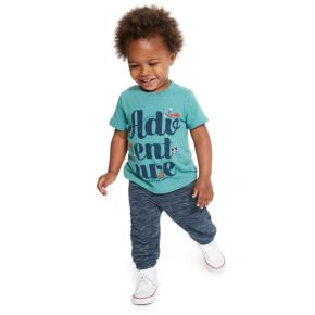 "Baby Boy Jumping Beans® Puffed ""Adv-ent-ure Makes Me Happy"" Graphic Tee"