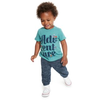 """Baby Boy Jumping Beans® Puffed """"Adv-ent-ure Makes Me Happy"""" Graphic Tee"""
