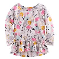 Baby Girl Jumping Beans® Print Peplum Tunic