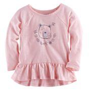 Baby Girl Jumping Beans® Bear Graphic Peplum Tunic