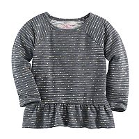 Baby Girl Jumping Beans® Foiled Heart Peplum Tunic
