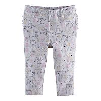 Baby Girl Jumping Beans® Print Ruffled Leggings