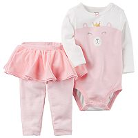 Baby Girl Carter's Bear Princess Bodysuit & Tutu Leggings Set