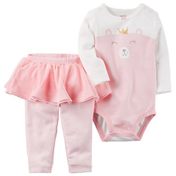 Baby Girl Carter's Bear Princess Bodysuit & Tutu Leggings Set