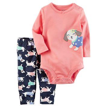 Baby Girl Carter's Dog Bodysuit & Leggings Set