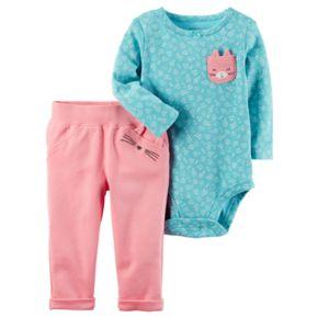 Baby Girl Carter's Kitten Bodysuit & Pants Set