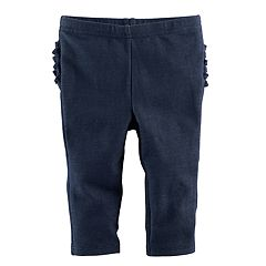 Baby Girl Jumping Beans® Ruffled Faux-Denim Leggings