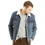 Big & Tall Levi's® Sherpa-Lined Denim Trucker Jacket