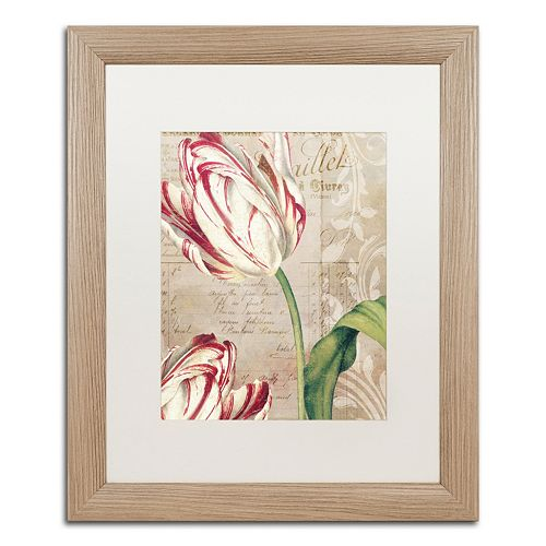 Trademark Fine Art Tulips Distressed Framed Wall Art