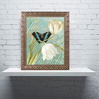 Trademark Fine Art White Tulips Ornate Framed Wall Art