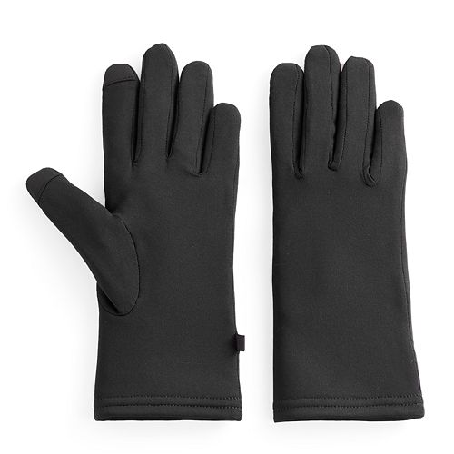 Women's Cuddl Duds Faux Fur Lined Flex Fit Tech Gloves