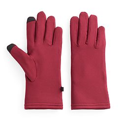 Women's Cuddl Duds Faux Fur Lined Flex Fit Tech Gloves