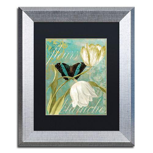Trademark Fine Art White Tulips Silver Finish Framed Wall Art