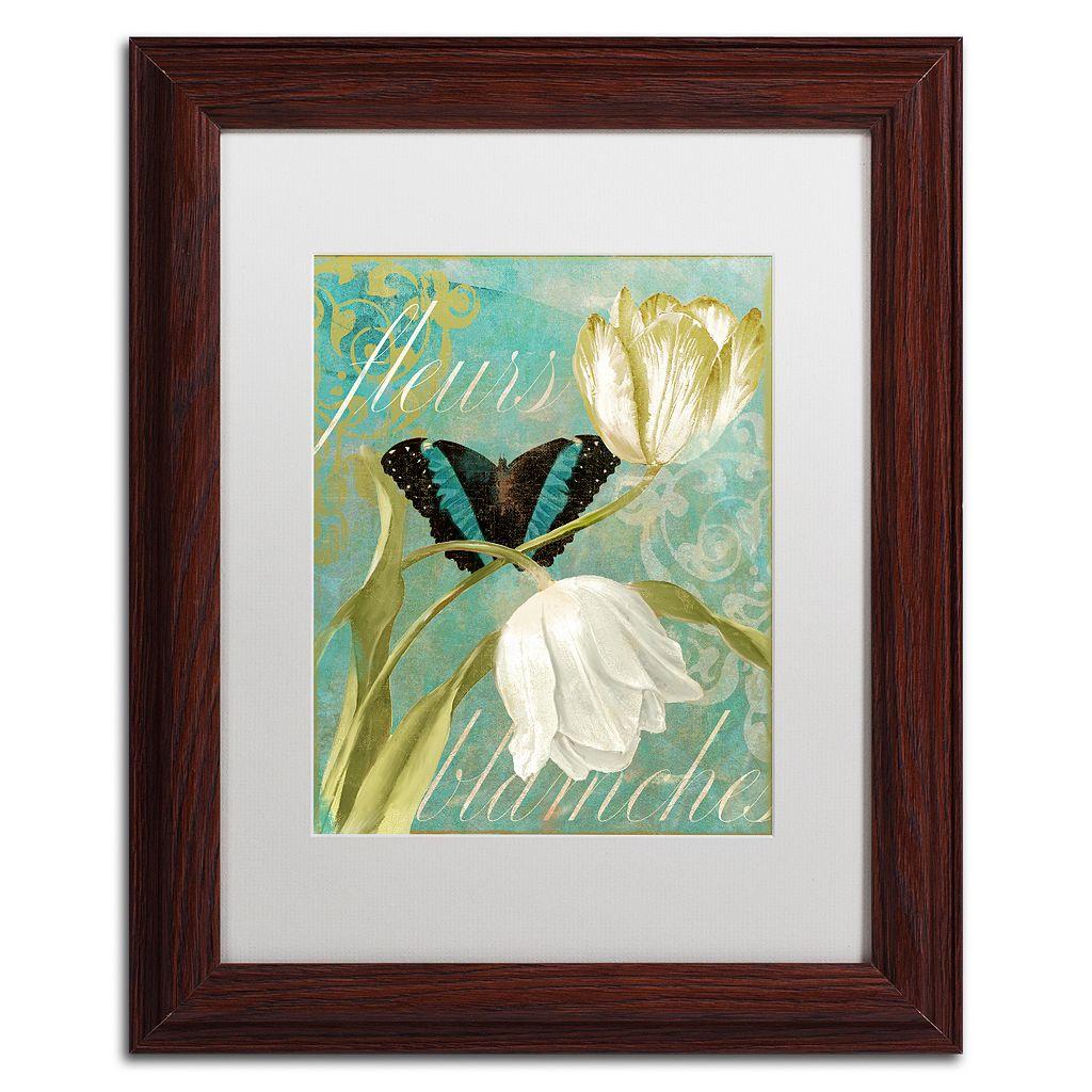 Trademark Fine Art White Tulips Framed Wall Art