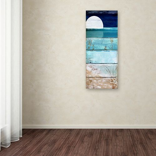 Trademark Fine Art Beach Moonrise I Canvas Wall Art