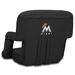 Picnic Time Miami Marlins Ventura Portable Reclining Seat
