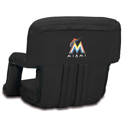 Picnic Time Miami Marlins Ventura Portable Reclining Seat