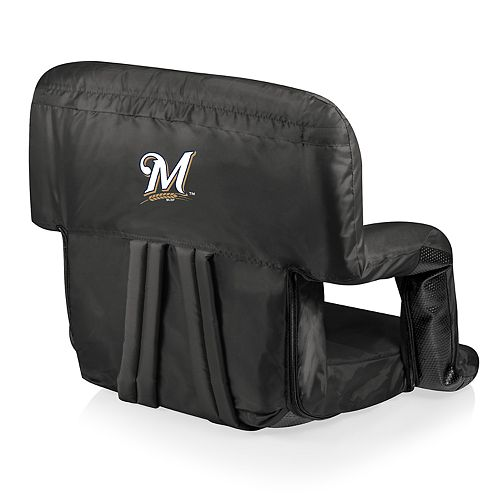 Picnic Time Milwaukee Brewers Ventura Portable Reclining Seat
