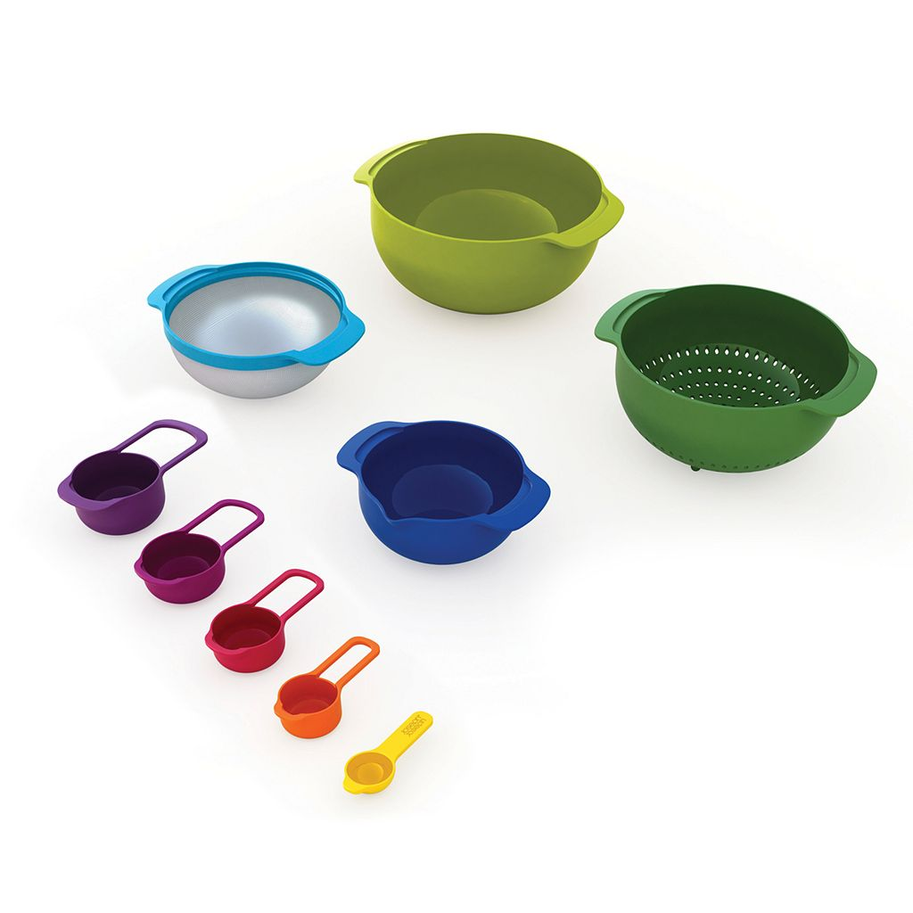 Joseph Joseph 9-pc. Multi-Color Nesting Bowl & Measuring Cup Set