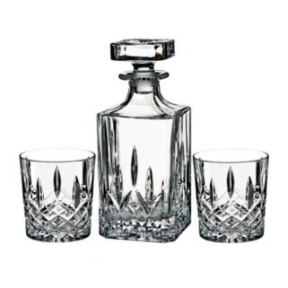 Marquis by Waterford Markham Square Decanter & Double Old-Fashioned Glass Set
