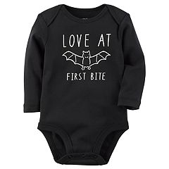 Baby Carter's Glow-In-The-Dark 'Love At First Bite' Bat Bodysuit