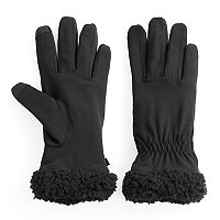 Women's Cuddl Duds Faux Shearling Lined Flex Fit Gloves