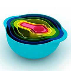 Joseph Joseph 8-pc. Multi-Color Nesting Bowl & Measuring Cup Set