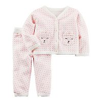 Baby Girl Carter's Little Bear Sweater & Bottoms Set