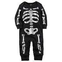 Baby Carter's Foil Print Skeleton Jumpsuit