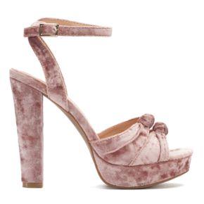 LC Lauren Conrad Rosinca ... Women's Velvet Platform High Heels