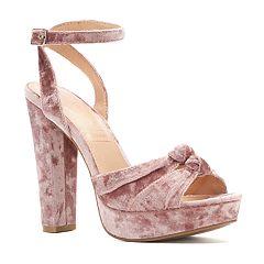 LC Lauren Conrad Rosinca Women's Velvet Platform High Heels