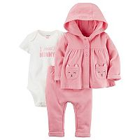Baby Girl Carter's Little Bear Jacket,