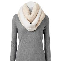 Cuddl Duds Faux Shearling Reversible Infinity Scarf