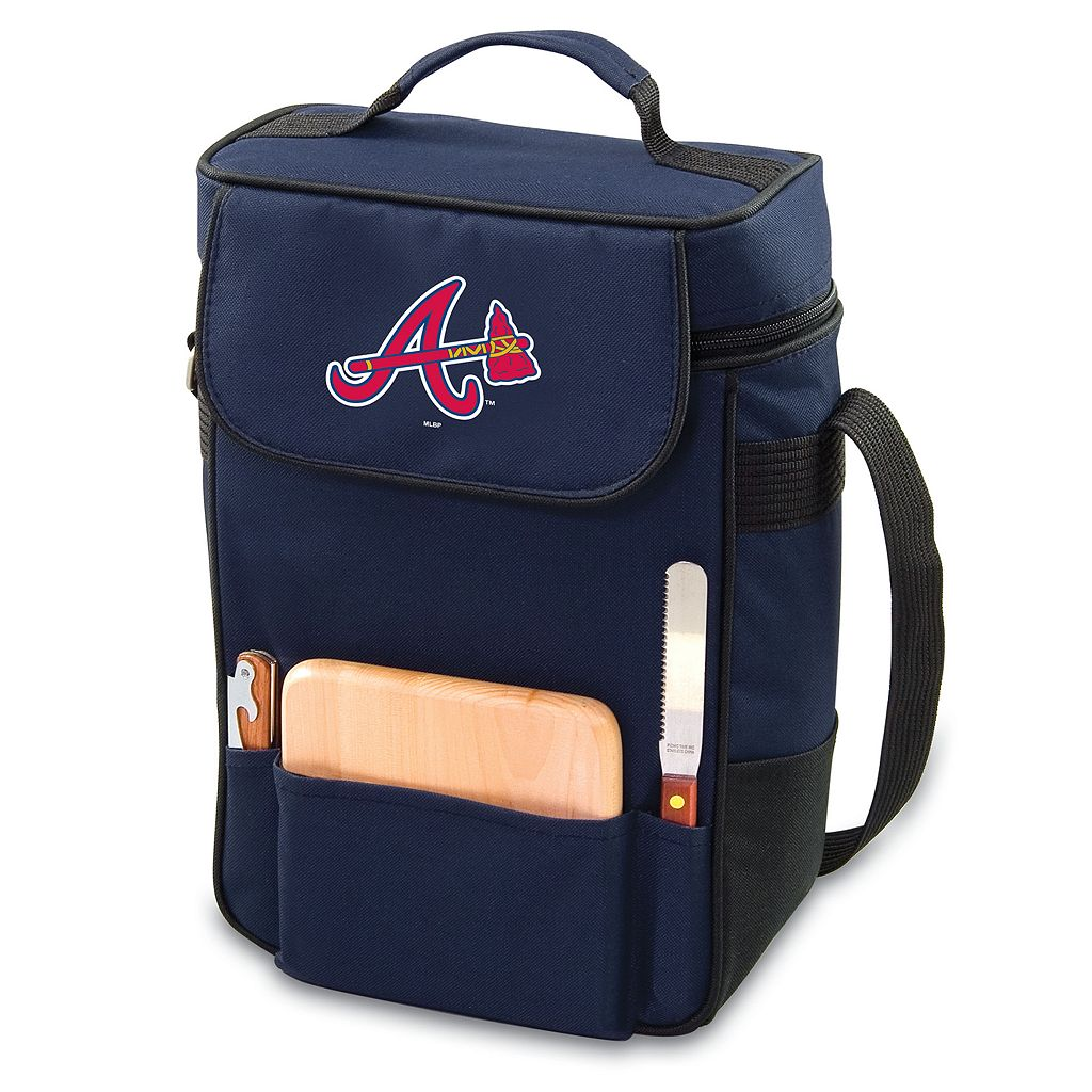 Picnic Time Atlanta Braves Duet Insulated Wine & Cheese Bag