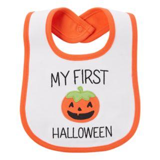"Baby Carter's ""My First Halloween"" Pumpkin Applique Teething Bib"