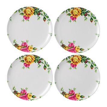 Royal Albert 4-pc. Old Country Roses Melamine Dinner Plate Set